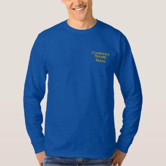 Camiseta De Mangas Largas Bordada Negocio de encargo