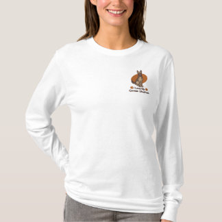 Camiseta De Mangas Largas Bordada Pastor alemán del amor