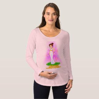Camiseta de maternidad de la diosa (pelo de Brown)