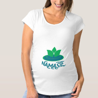 Camiseta de maternidad de la meditación de la yoga