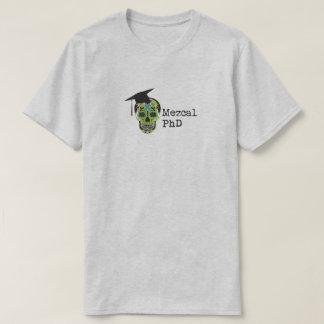 Camiseta de Mezcal PhD en gris claro