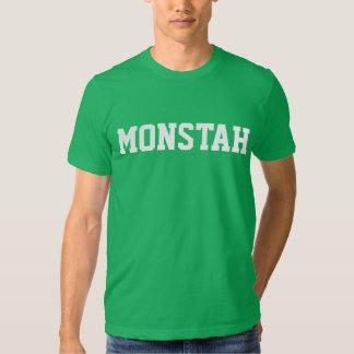 """Camiseta de """"Monstah"""" del verde"""