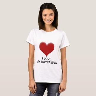 camiseta de mujer i love my boyfriend