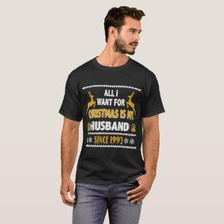 Camiseta de Navidad para el aniversario desde 1992