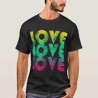 Camiseta de neón de los años 80 del amor
