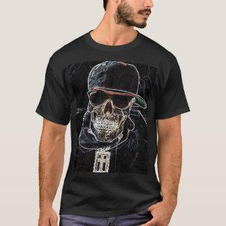 Camiseta de neón del cráneo de Hip Hop