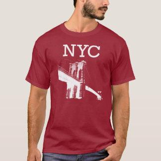 Camiseta de Nueva York de color rojo oscuro