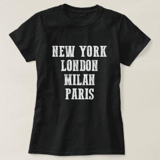 Camiseta de Nueva York Londres Milano París