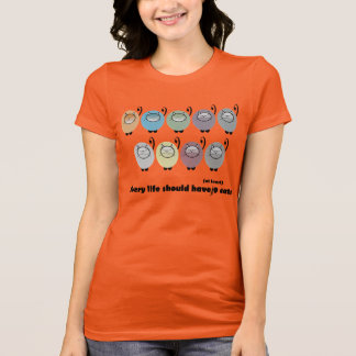 Camiseta de nueve gatos
