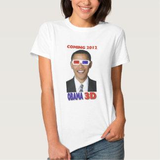 Camiseta de Obama 3D - viniendo 2012
