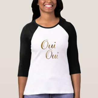 Camiseta de oro de Francia del francés del oui