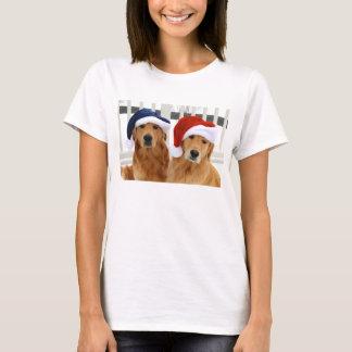Camiseta de oro del navidad