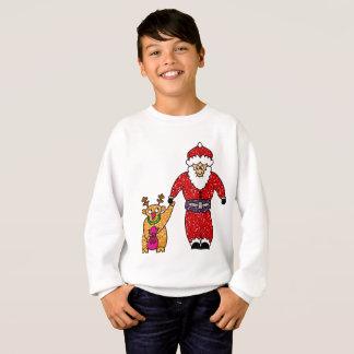 Camiseta de Papá Noel del reno del navidad