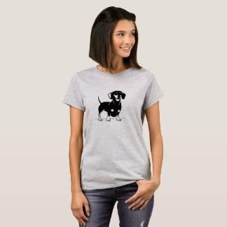 Camiseta de pelo corto de las mujeres de los dachs
