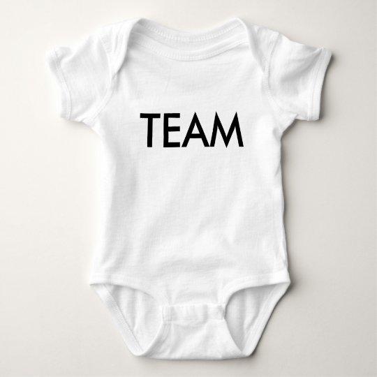 Camiseta de plata del bebé del borde