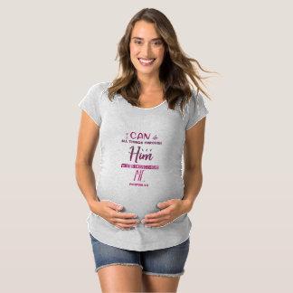 Camiseta De Premamá 4:13 de los filipenses - puedo hacer todas las
