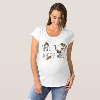 Camiseta De Premamá ¡Ahorre la abeja! ¡Ahorre el mundo! Vive el diseño