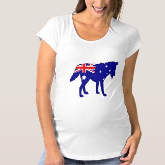 Camiseta De Premamá Bandera australiana - lobo