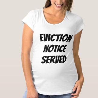 Camiseta De Premamá Bebé servido notado desahucio chistoso del