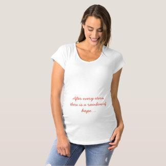 Camiseta De Premamá Después de cada tormenta hay un arco iris de la