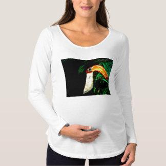 Camiseta De Premamá Diseño original tropical del arte de Tucan