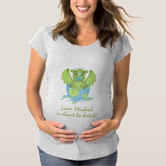 Camiseta De Premamá Dragón del bebé alrededor a la portilla