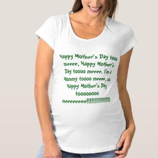 Camiseta De Premamá El día de madre feliz a mí….Camisa de maternidad