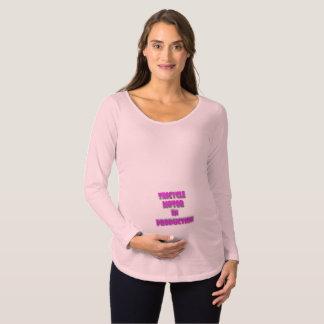 Camiseta De Premamá Embarazo lindo de la niña del motor del triciclo