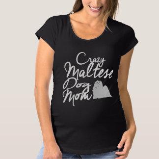Camiseta De Premamá Mamá loca del perro maltés