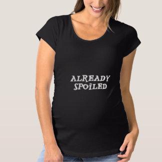 Camiseta De Premamá Maternidad estropeada ya