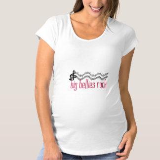 Camiseta De Premamá Maternidad grande de la roca de los Belly