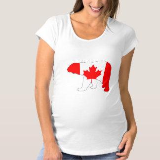 """Camiseta De Premamá Oso polar """"Canadá """""""