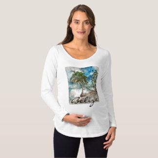Camiseta De Premamá Playa en el Ambergris Caye Belice