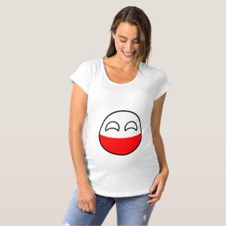 Camiseta De Premamá Polonia Geeky que tiende divertida Countryball