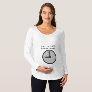 Camiseta De Premamá Siga la receta