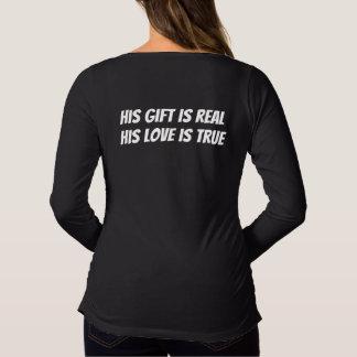 Camiseta De Premamá Su regalo es real, su amor es verdad