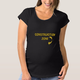 Camiseta De Premamá Zona de maternidad de la construcción