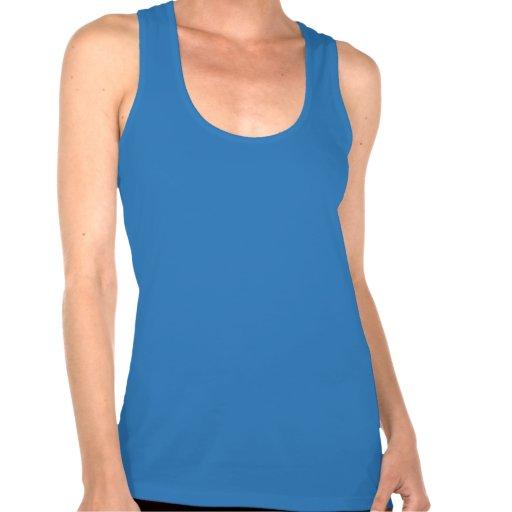 Camiseta de Racerback de las mujeres - armadura de