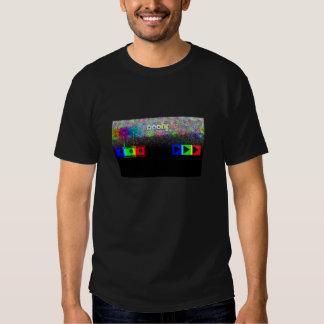 camiseta de radio del logotipo del juego de 3D