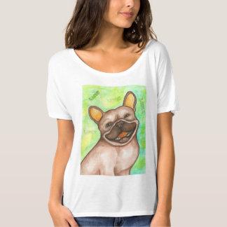 Camiseta de risa del dogo francés