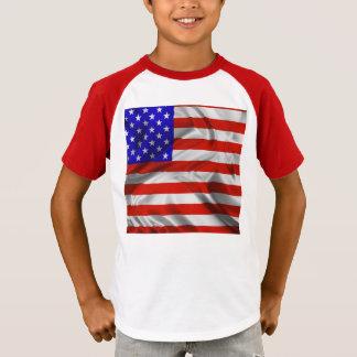 Camiseta de seda de la bandera de los E.E.U.U. de