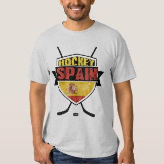 Camiseta de Sobre Hielo España del hockey de la