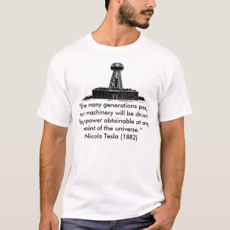 """Camiseta de Tesla Wardenclyffe, """"antes de muchos"""