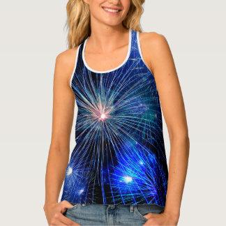 Camiseta De Tirantes 4to de los fuegos artificiales de julio en 4tos