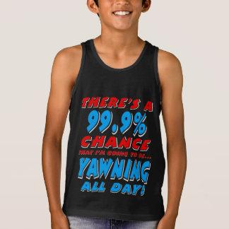 Camiseta De Tirantes 99,9% BOSTEZO TODO EL DÍA (blanco)