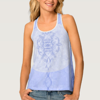 Camiseta De Tirantes _Abstract_Soft-Blue_Everyday_Tanks bohemios
