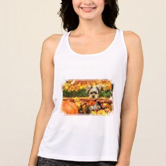 Camiseta De Tirantes Acción de gracias de la caída - máxima - Yorkie