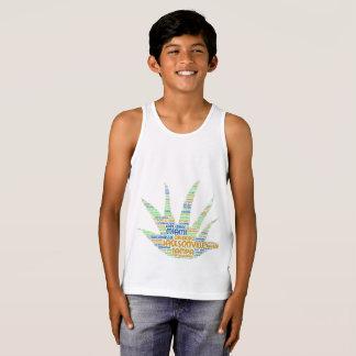 Camiseta De Tirantes Alove Vera ilustrada con las ciudades de la