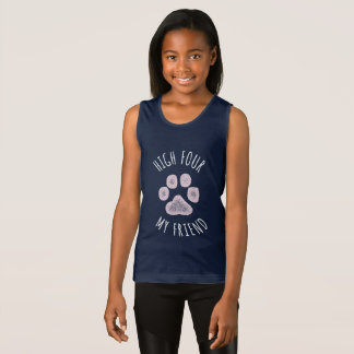 Camiseta De Tirantes Altos cuatro mi perro divertido del amigo