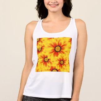 Camiseta De Tirantes Amarillo colorido del modelo del verano tickseed